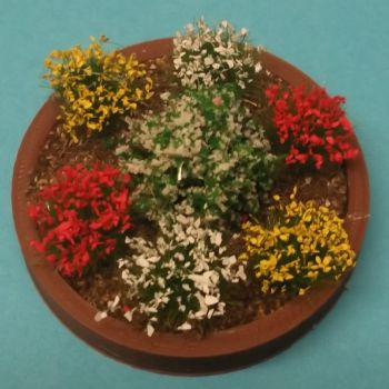 Round Raised Flowerbed